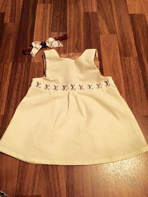 Mädchen Kleid mit Haarband creme gr.74-80