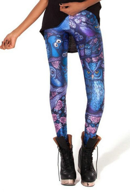 Fashion Green Maple Leaf Style Colorful Casual Summer Gothic Leggings Interest Print Sports Leggings Sexy Pants