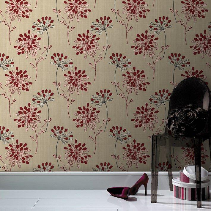 Burst Floral Wallpaper