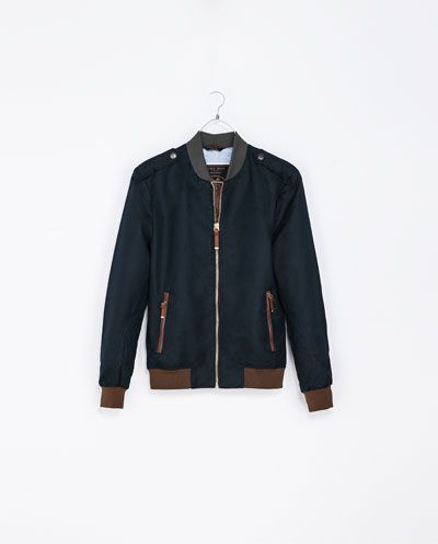 ZARA - MAN - COMBINATION BOMBER JACKET | Jacket | Pinterest | Zara ...