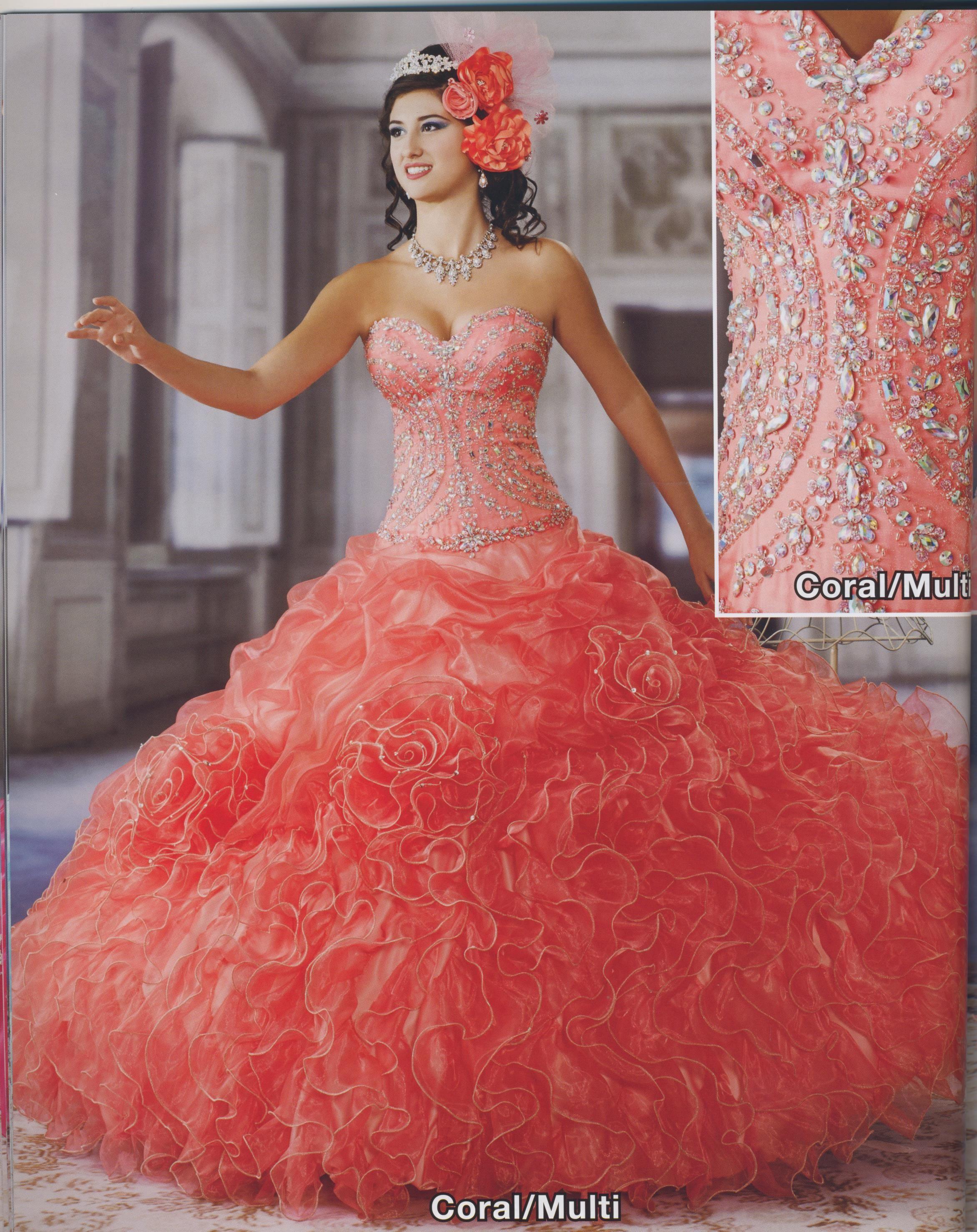 Princess Collection/ Coral Multi, Aqua Multi, White Multi