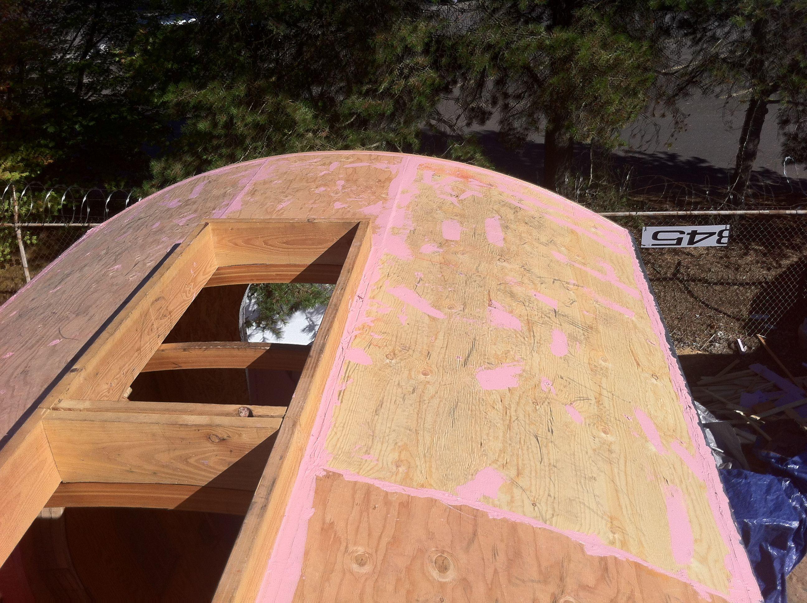 Musings On My Vardo Roof Box Vardo Roof Sheathing Roof