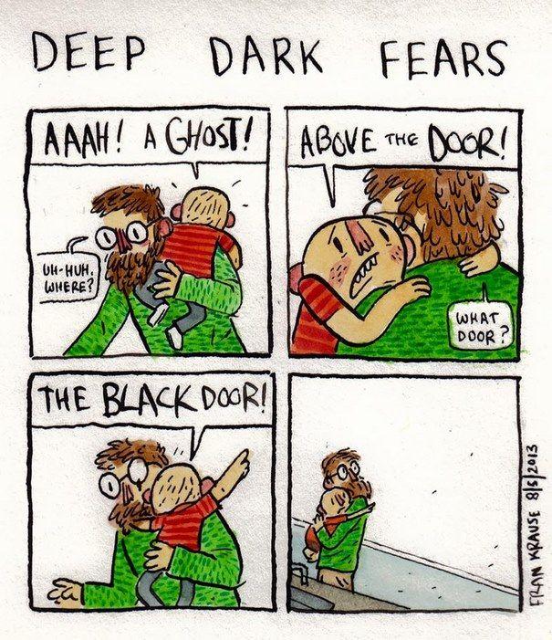 People S Deepest And Darkest Fears Turned Into Comics New Pics Deep Dark Fears Fear Dark Humor