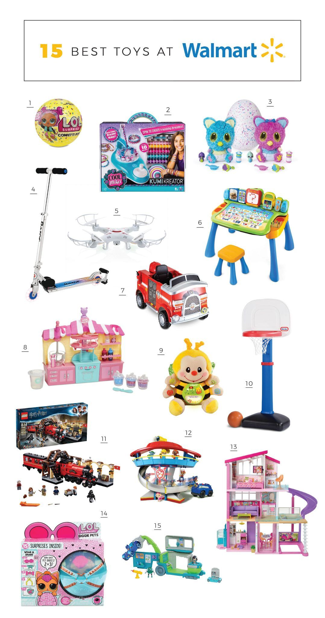Top 15 Best Toys At Walmart The Girl In The Yellow Dress Walmart Toys Cool Toys Kids Gift Guide [ 2048 x 1078 Pixel ]