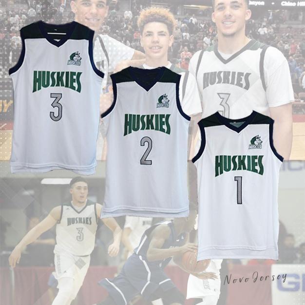 cdcfc3afba9 Chino Hills Huskies LaMelo Ball  1 Lonzo Ball  2 LiAngelo Ball  3 Basketball  Jersey