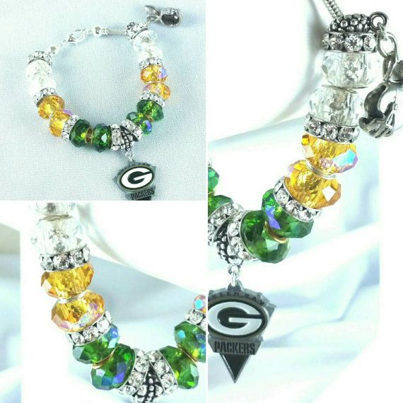 Who is your favorite NFL team? Green Bay Packers Charm Bracelet On Sale Now! https://www.etsy.com/listing/263471040/nfl-green-bay-packers-charm-bracelet