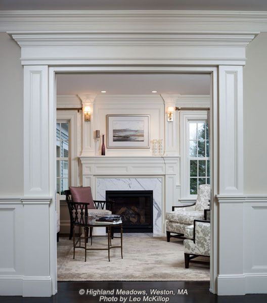Gather Fireplace Mantel Ideas From The Mantels Photo Gallery By Van Millwork Archways In Homes Interior Door Trim Interior Columns