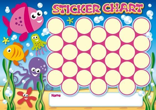 Free Kid Printable Sticker Charts  Chore Chart