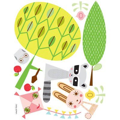 Oopsy Daisy Paper Animals and Elements Small Peel and Place Wall Decal