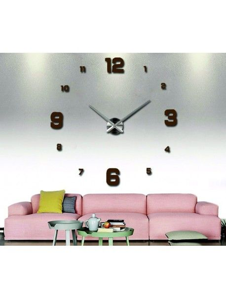 Klebe Wanduhr braun Walnuss - EDITH Artikel-Nr 12S005-RAL8011-S - schöne wanduhren wohnzimmer