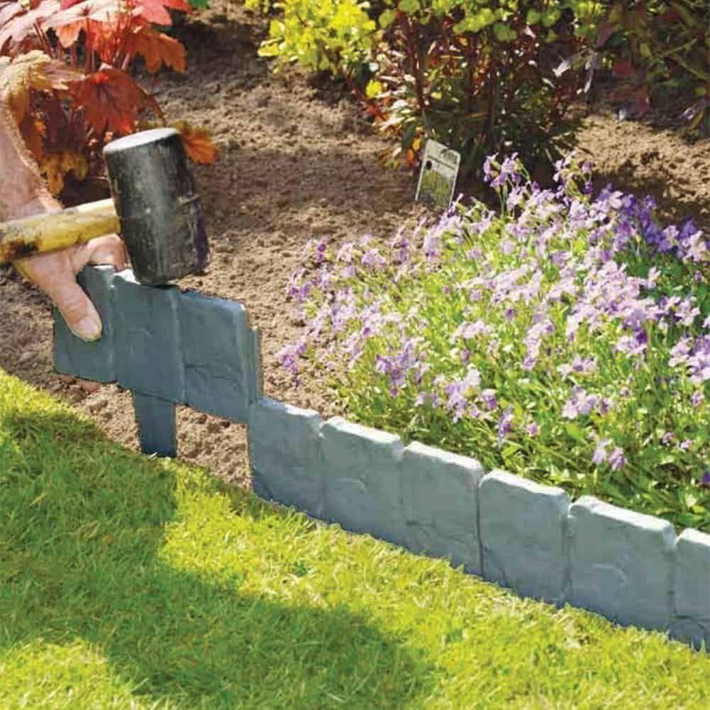 Stone Effect Plastic Foldable Garden Edging