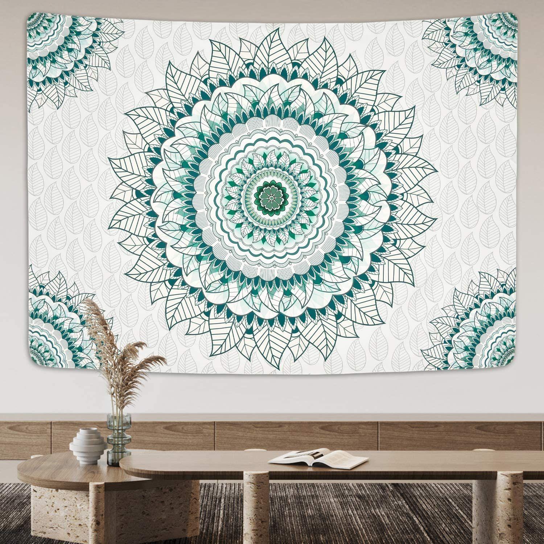 The Sage Mandala Tapestry Mandala Tapestry Tapestry Teal Tapestry