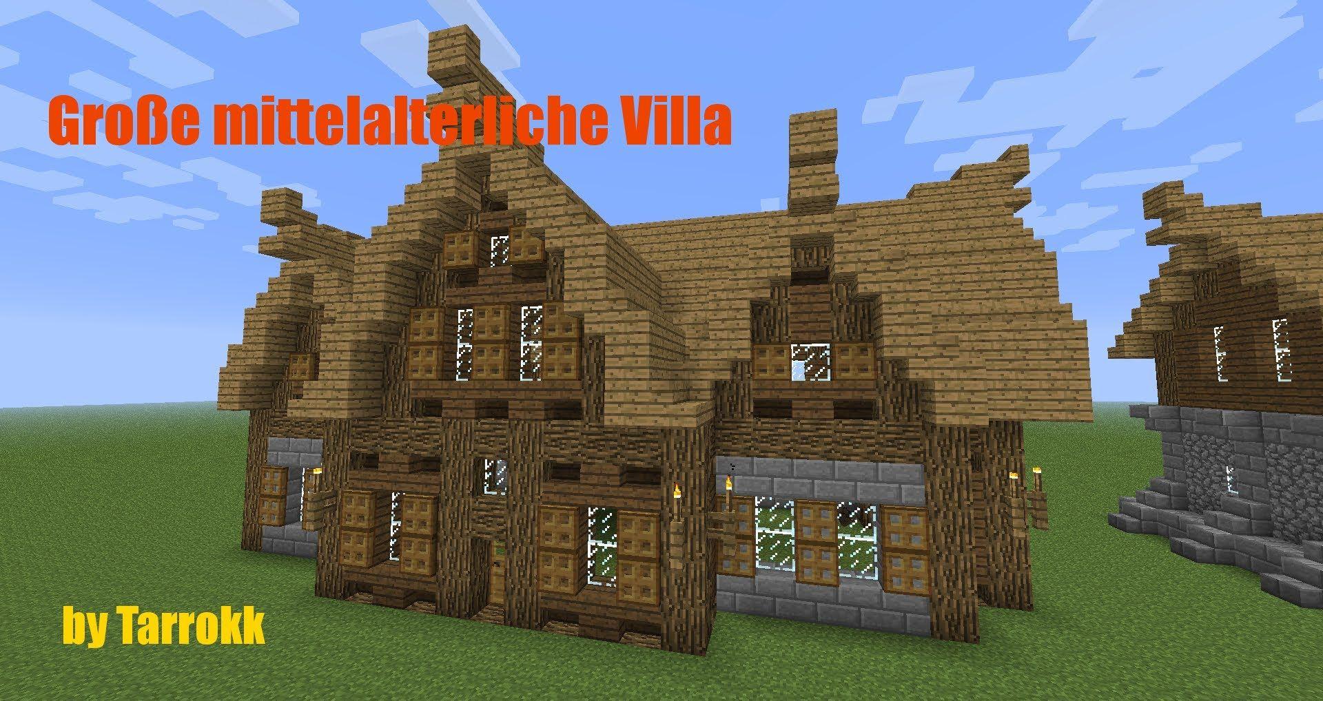 Minecraft Große Mittelalterliche Villa Tutorial Minecraft - Minecraft pe hauser zum nachbauen