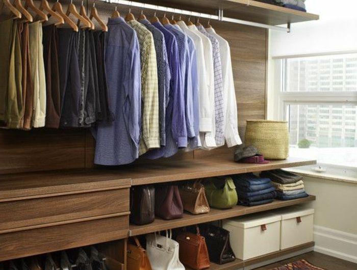 aménager un dressing pratique et ranger les vêtements avec style