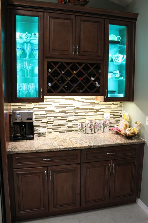 Fabuwood Wellington Cinnamon Under Cabinet Lighting Multi Color Led Decorative Cabinetry