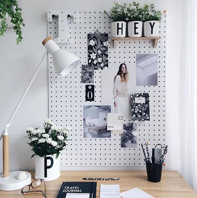 Creative Home Office Ideas For Small Spaces: Cozy Moodboard With A Place For Small Greens