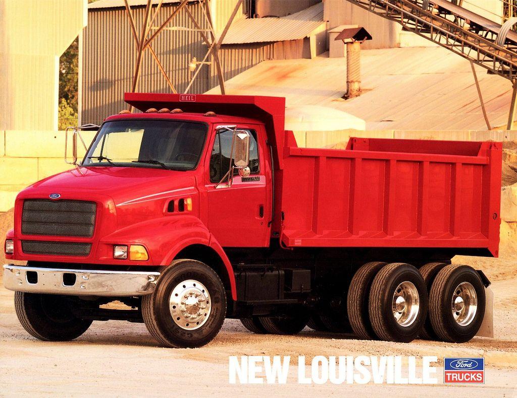 1995 Ford Louisville Dump Truck Dump trucks, Trucks