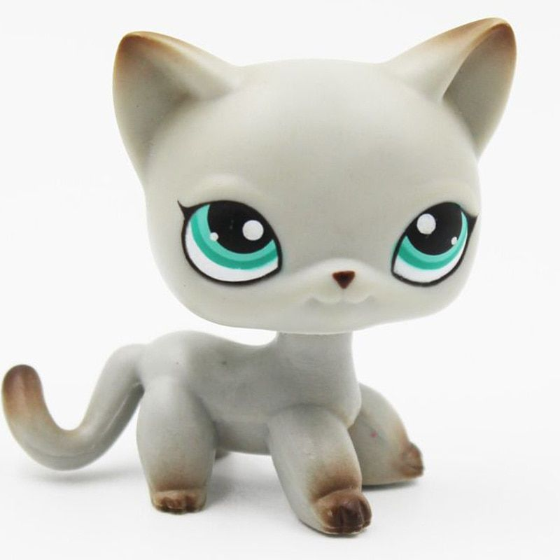 Online Shop Rare Pet Shop Lps Toys Standing Littlest Short Hair Cat Grey White 5 Pink 2291 Old Real Action Figure Anime Toys For C Lps Toys Lps Pets Pet Shop