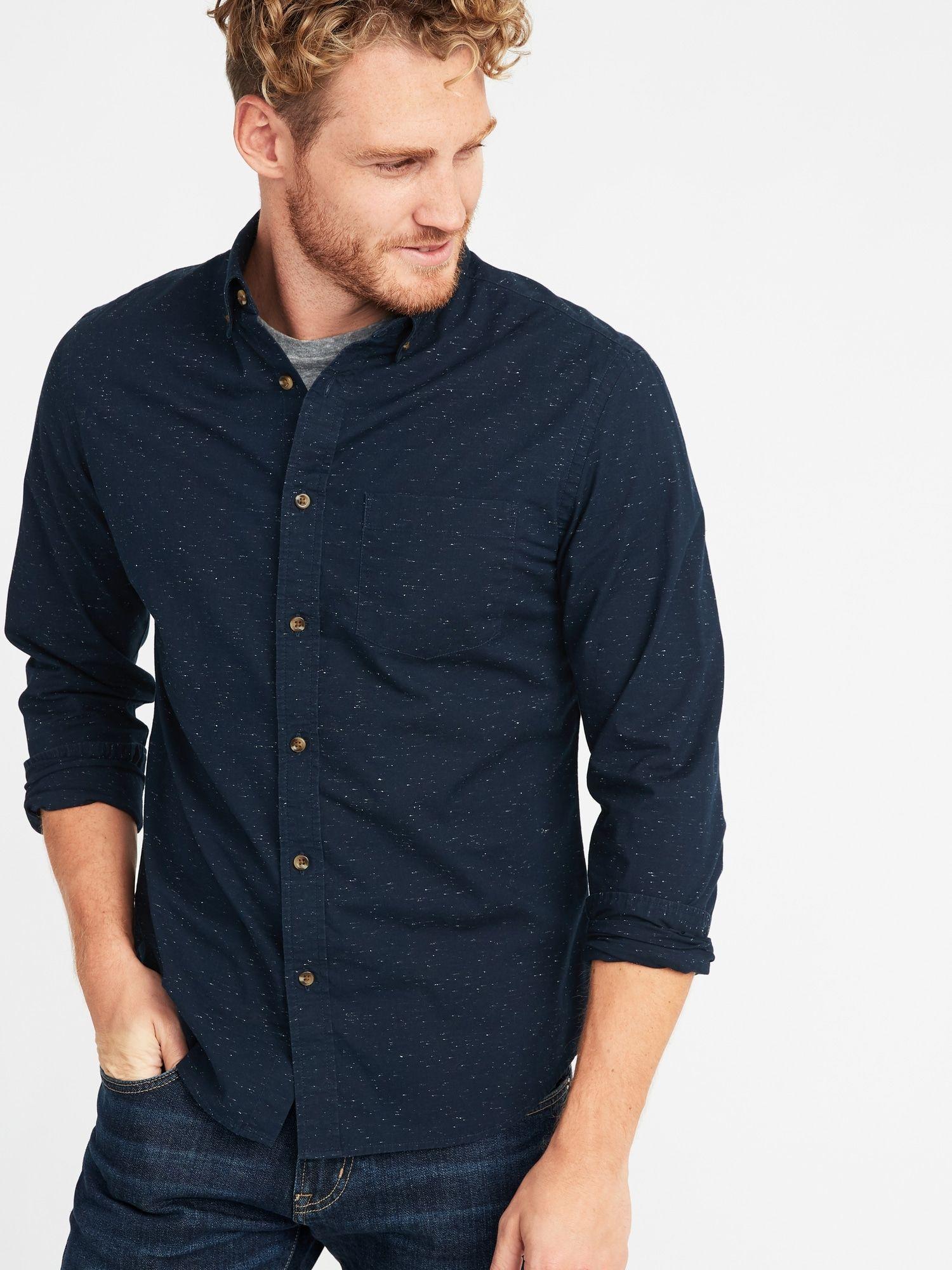71f695f26c7b8 Slim-Fit Built-In Flex Everyday Neps Shirt for Men