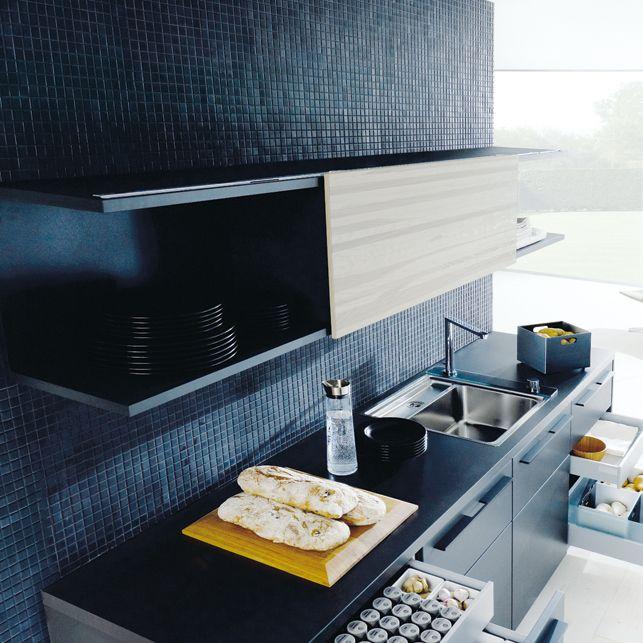 Oberschrank mit Schiebetür Küche Pinterest Design design - schiebetür für küche