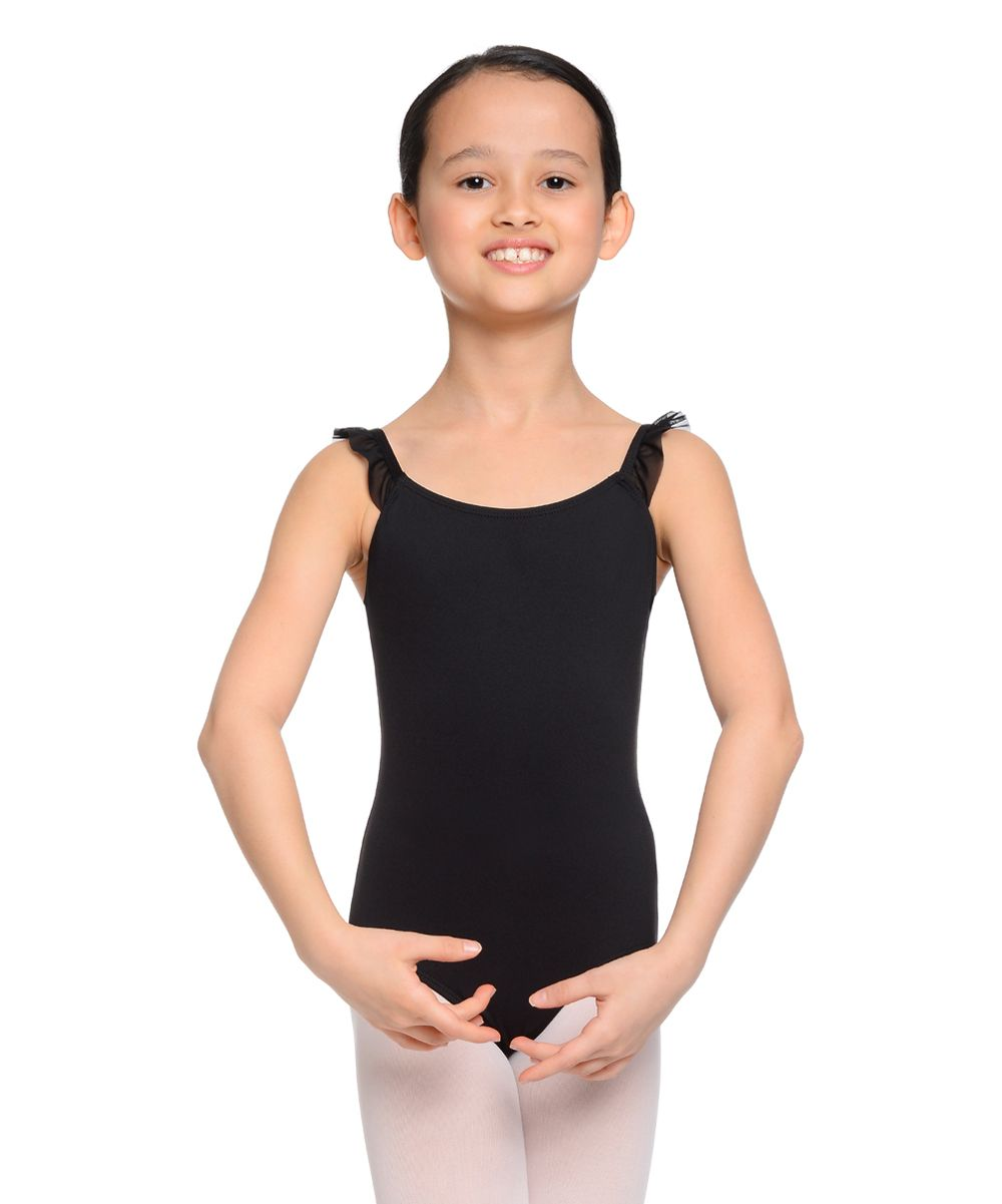 5015f1dc3 Rich Black Ruffle-Sleeve Leotard - Toddler   Girls