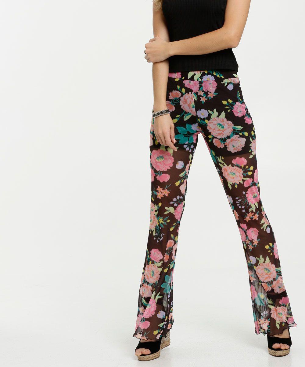 Photo of Marisa calça de tule com motivos florais
