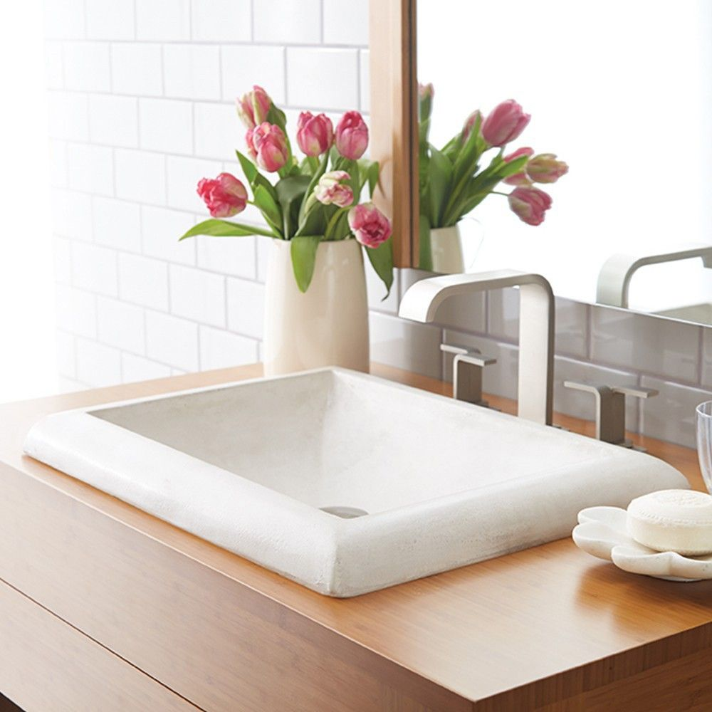 The Montecito Bathroom Sink's generous size and strong, clean lines showcase a modern sink with rustic sensibilities. The Montecito Bathroom Sink's generous size and strong, clean lines showcase a modern sink with rustic sensibilities.