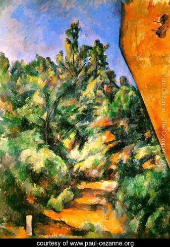 The Red Rock (1897) Post Impressionism - Paul Cezanne