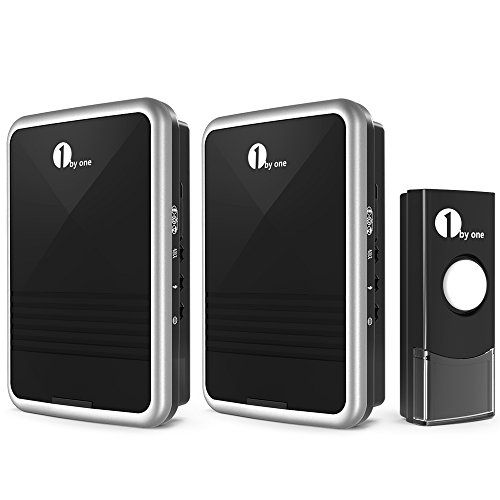 1byone Easy Chime Wireless Doorbell Kit, 2 Plug In Receivers U0026 1 Push Button