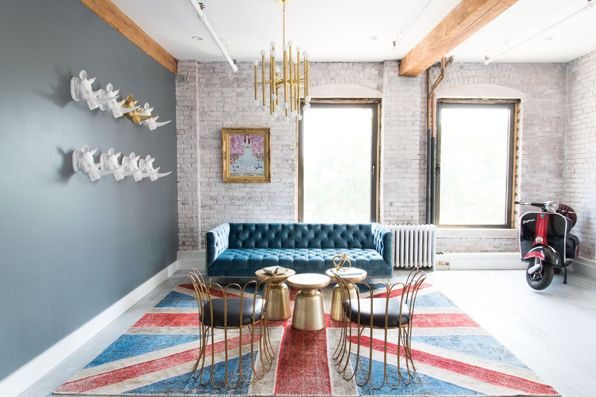 Home interior names orlandous obsessions bold blue sofas  living rooms eclectic decor