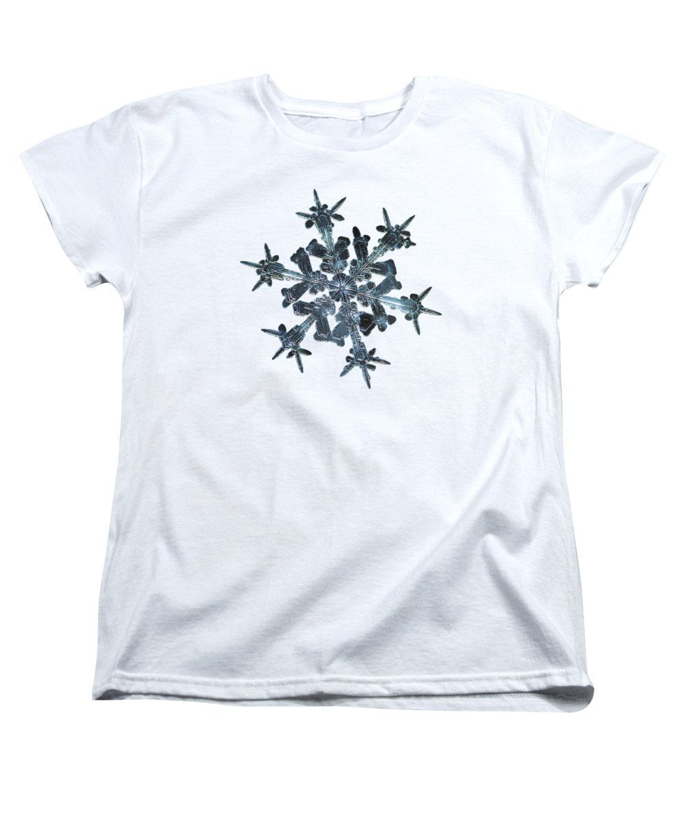 Snowflake womens t shirt standard cut featuring the photograph starlight panoramic version alexey kljatov photography ideas for home decor interior