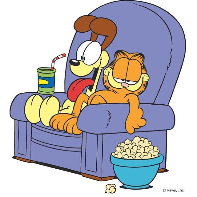 And What Have You Done All Weekend Lazy Tv Pets Weekend Padgram Garfield And Odie Garfield Garfield Cartoon
