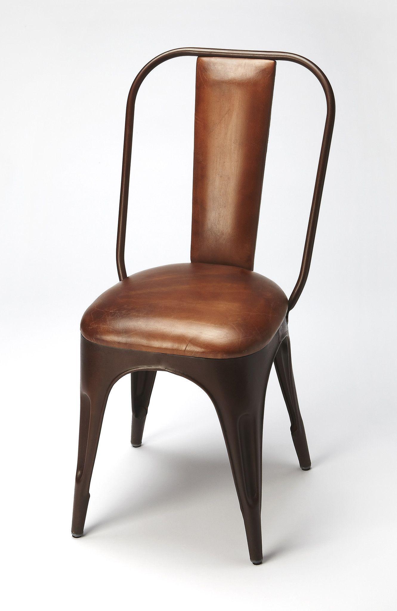 Riggins Modern Side Chair Medium Brown   Modern and Contemporary ...