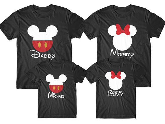 f37fb0c2 Daddy mommy and kids, Dad mom baby set, Family Disney shirts, Matching  family shirts, Christmas fami