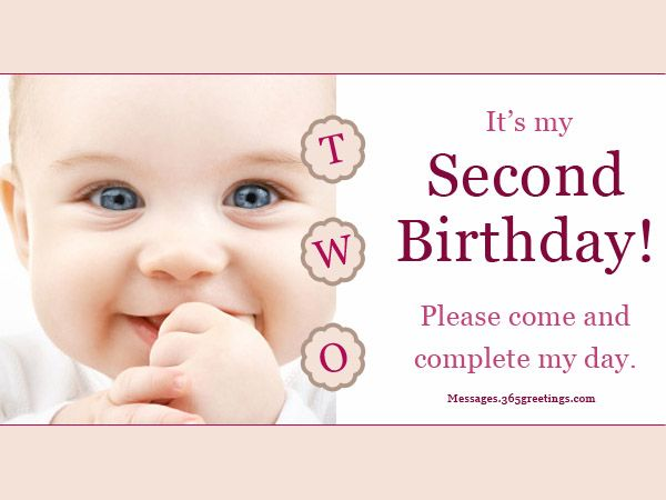 2nd Birthday Invitation Wording Messages Wordings And Gift Ideas