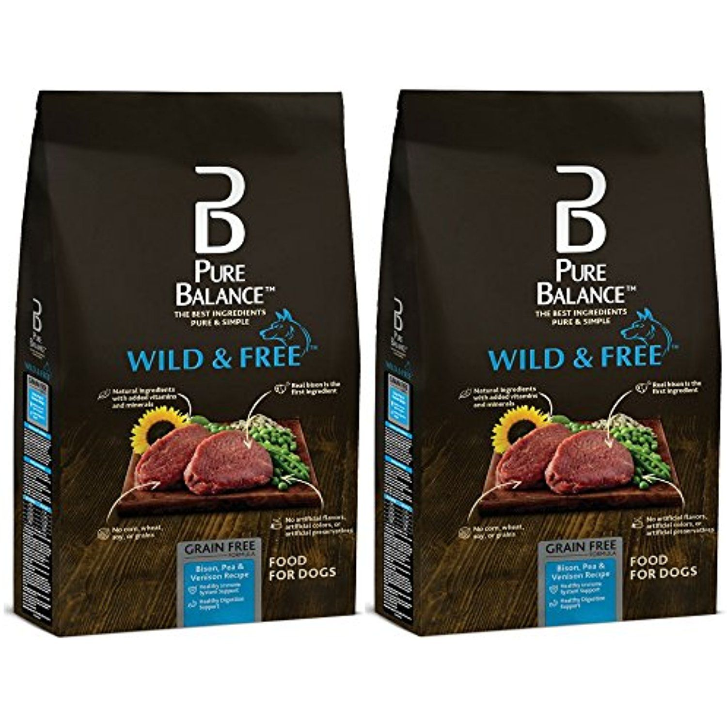 Pure Balance Wild Free Bison Pea Venison Recipe Food For Dogs