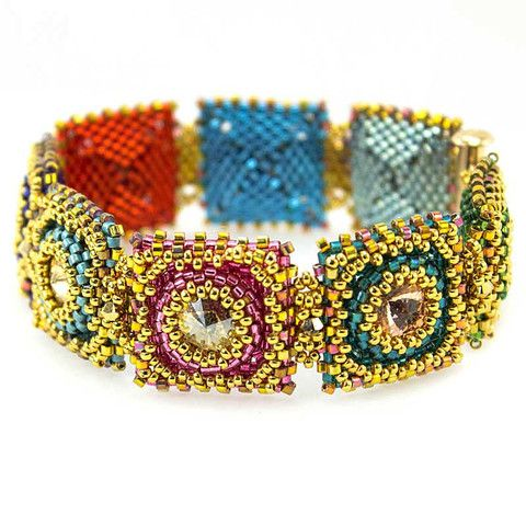 Flaming Jewels Bracelet Bead Weaving Kit