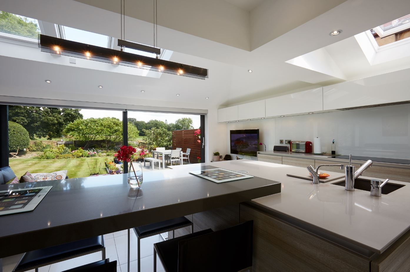 Contemporary kitchen with a view on behalf of Transform Architects