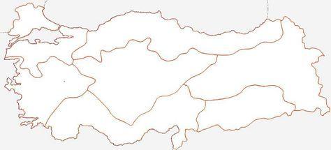 Turkiye Bolgeler Haritasi Bos Jpg Faaliyetler Hayat Bilgisi Harita