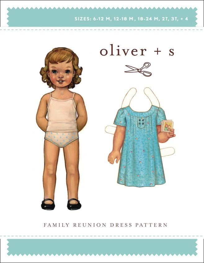 Oliver + S Sewing Pattern, Family Reunion Dress | Paper Dolls ...