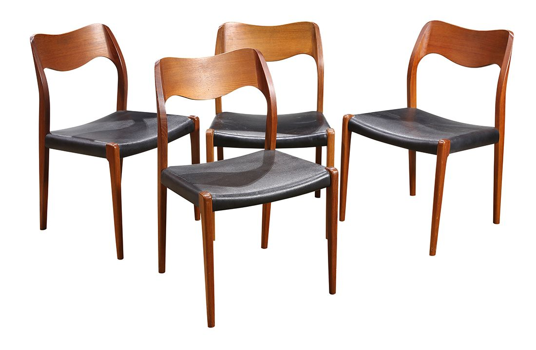Danish J L Moller Dining Chairs Clars Auction Gallery Dining Chairs Chair Moller