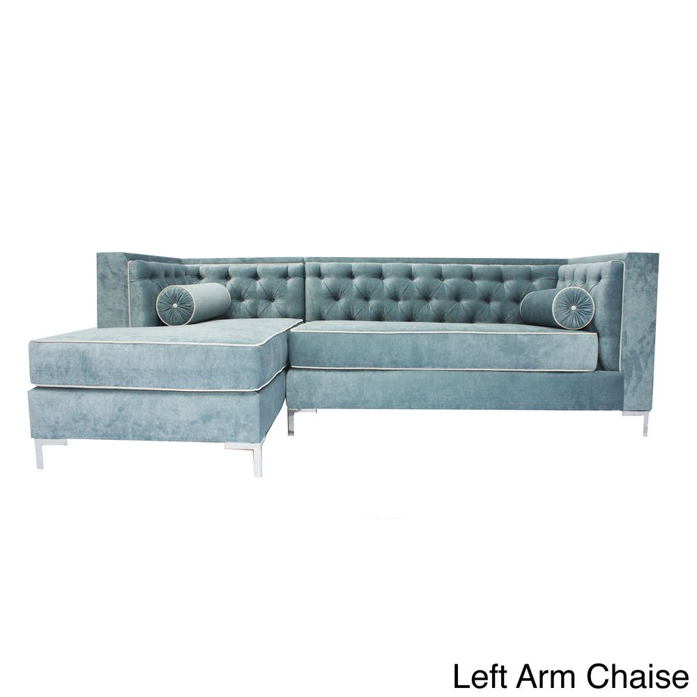 Beautiful Tobiasu0027 Wedgewood Blue 8 Foot Sectional Sofa | Overstock.com Shopping   The