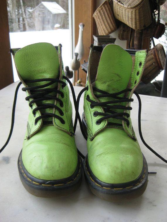 http://www.etsy.com/listing/91653968/vintage-lime-green-doc-martens