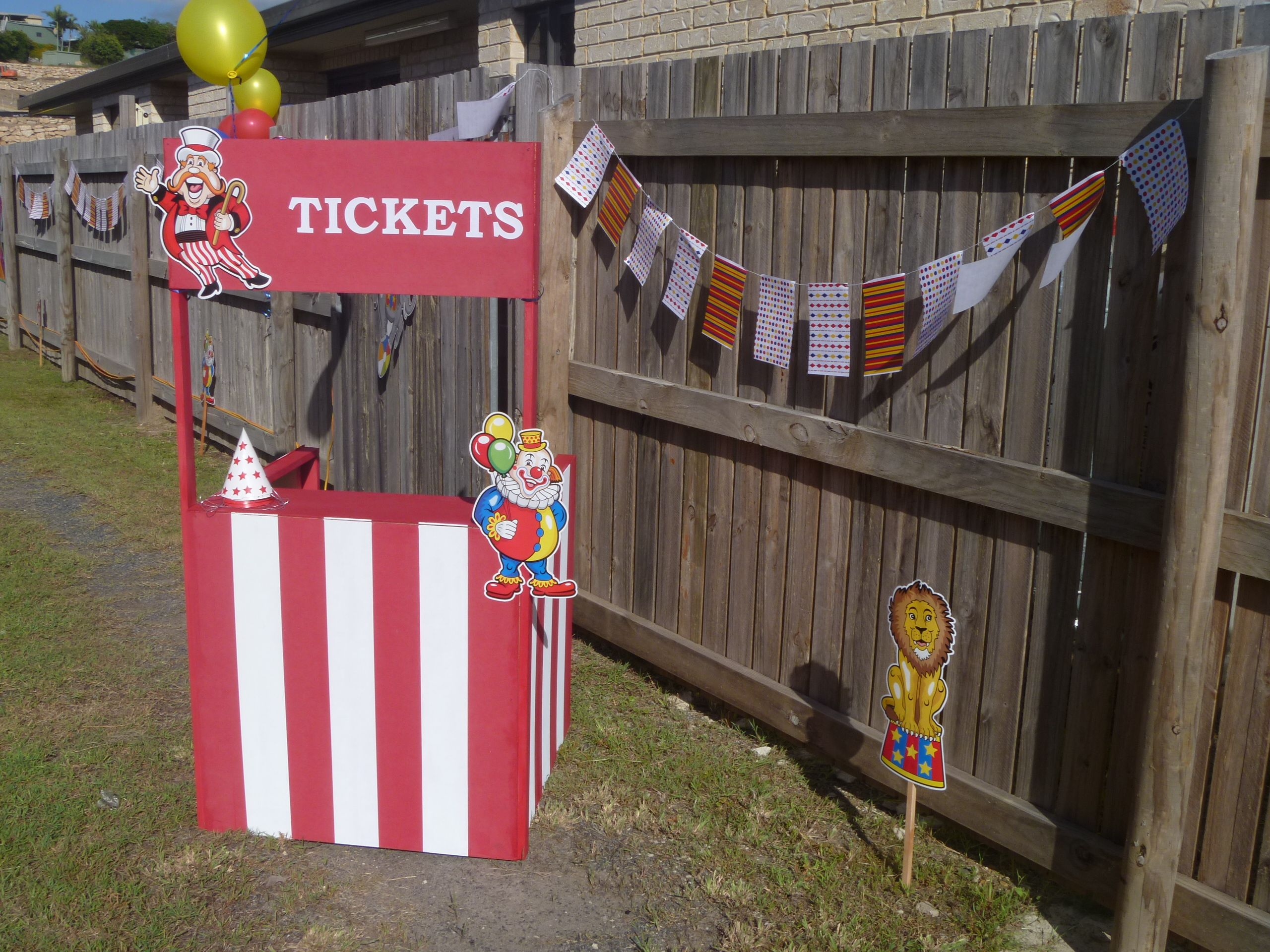 Our DIY ticket booth!