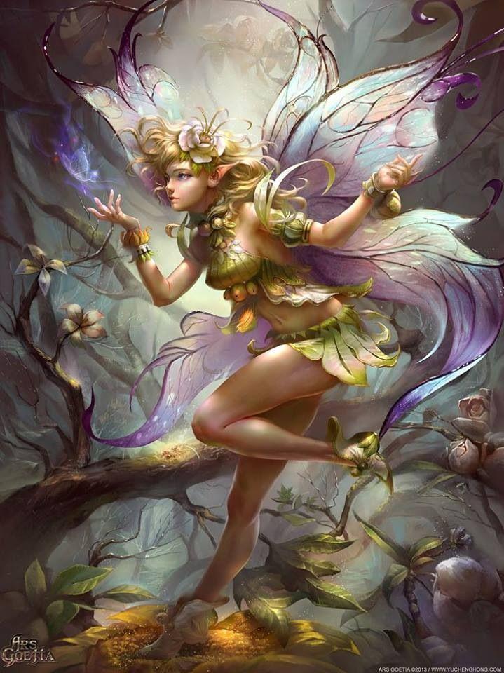 армию, картинка красивой золотой феи отопления