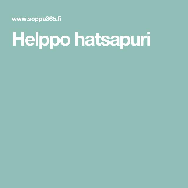 Helppo hatsapuri