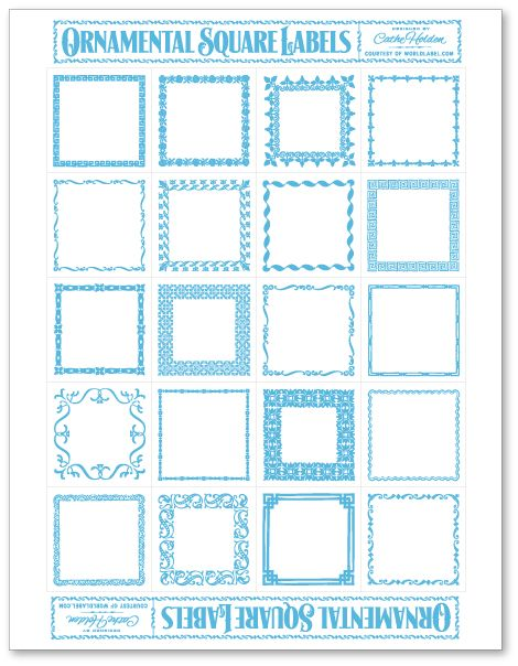 free printable square labels that you just type in what you want in