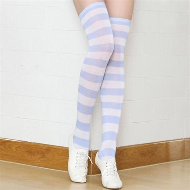 Photo of Anime Cosplay Long Striped Stockings Up To The Hips – 8 / One Size