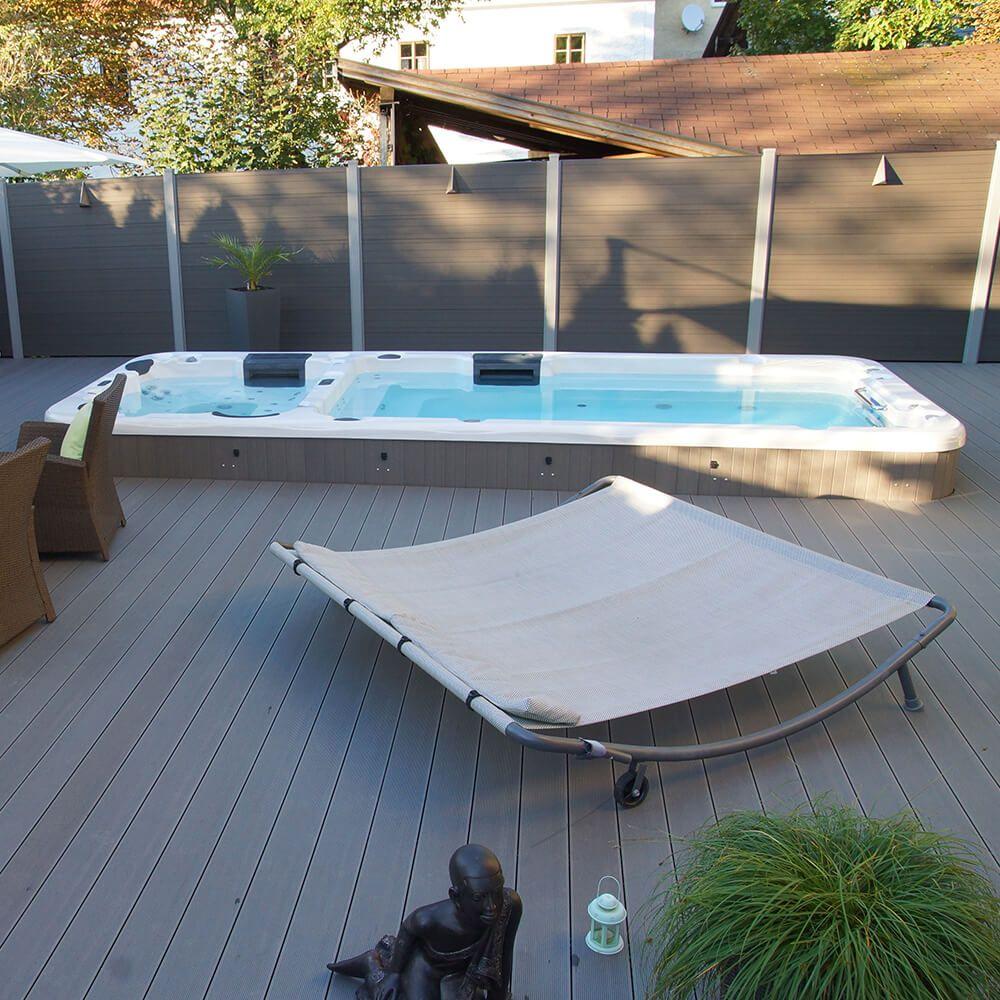 Armstark Swim Spa Teilversenkt Von Armstark Gartenpools Pool Im Garten Pool