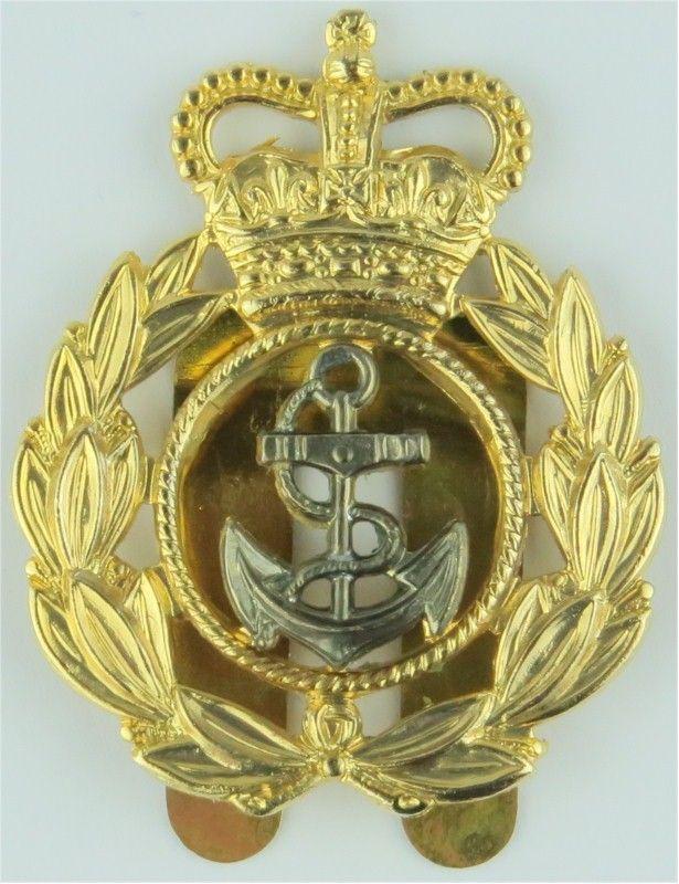 Royal Navy Chief Petty Officer's Beret Badge Roped Anchor/Laurels